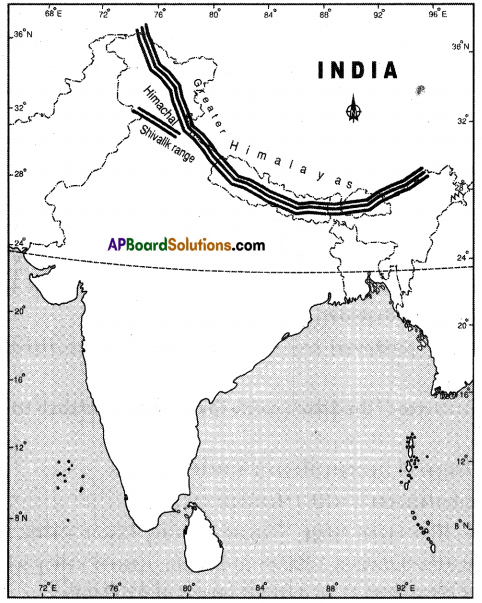 AP SSC 10th Class Social Studies Solutions Chapter 1 India Relief Features Q13