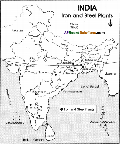 AP Board 9th Class Social Studies Solutions Chapter 7 Industries in India 1