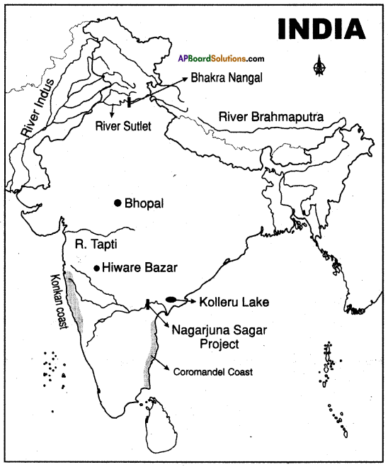AP SSC 10th Class Social Studies Important Questions Chapter 5 Indian Rivers and Water Resources 7