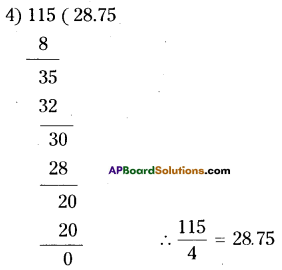 AP Board 9th Class Maths Solutions Chapter 1 Real Numbers Ex 1.1 5