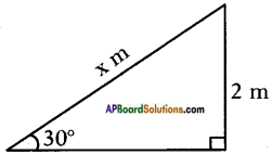 AP SSC 10th Class Maths Solutions Chapter 12 Applications of Trigonometry Ex 12.1 3