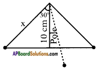 AP SSC 10th Class Maths Solutions Chapter 12 Applications of Trigonometry Ex 12.1 5