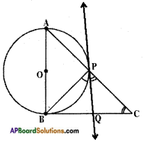AP SSC 10th Class Maths Solutions Chapter 9 Tangents and Secants to a Circle Ex 9.2 13