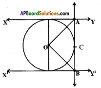 AP SSC 10th Class Maths Solutions Chapter 9 Tangents and Secants to a Circle Ex 9.2 4