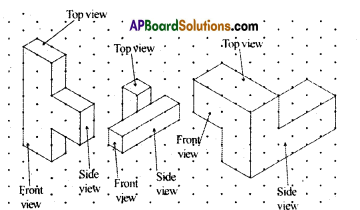 AP Board 8th Class Maths Solutions Chapter 13 Visualizing 3-D in 2-D Ex 13.1 6