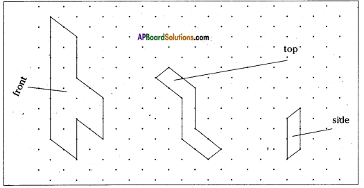 AP Board 8th Class Maths Solutions Chapter 13 Visualizing 3-D in 2-D Ex 13.1 7