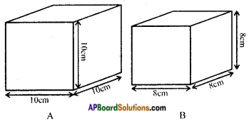 AP Board 8th Class Maths Solutions Chapter 14 Surface Areas and Volume (Cube-Cuboid) InText Questions 3