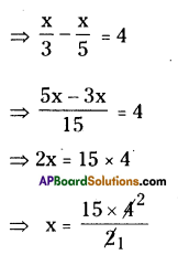AP Board 8th Class Maths Solutions Chapter 2 Linear Equations in One Variable Ex 2.4 3