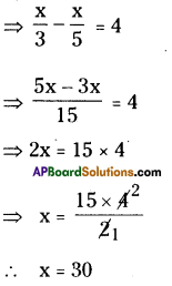 AP Board 8th Class Maths Solutions Chapter 2 Linear Equations in One Variable Ex 2.5 10
