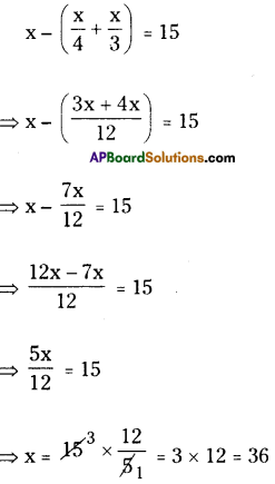 AP Board 8th Class Maths Solutions Chapter 2 Linear Equations in One Variable Ex 2.5 13
