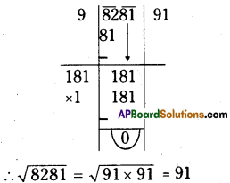 AP Board 8th Class Maths Solutions Chapter 6 Square Roots and Cube Roots Ex 6.3 11