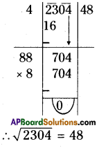 AP Board 8th Class Maths Solutions Chapter 6 Square Roots and Cube Roots Ex 6.3 2