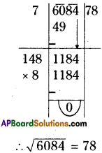 AP Board 8th Class Maths Solutions Chapter 6 Square Roots and Cube Roots Ex 6.3 4
