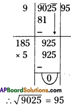 AP Board 8th Class Maths Solutions Chapter 6 Square Roots and Cube Roots Ex 6.3 5