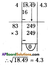 AP Board 8th Class Maths Solutions Chapter 6 Square Roots and Cube Roots Ex 6.3 7