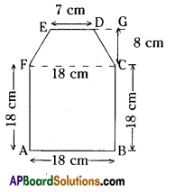AP Board 8th Class Maths Solutions Chapter 8 Area of Plane Figures Ex 9.1 12