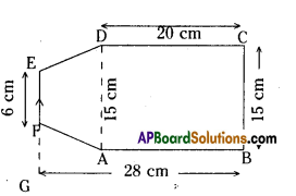 AP Board 8th Class Maths Solutions Chapter 8 Area of Plane Figures Ex 9.1 13