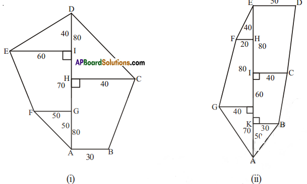 AP Board 8th Class Maths Solutions Chapter 8 Area of Plane Figures Ex 9.1 16