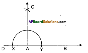 AP Board 9th Class Maths Solutions Chapter 13 Geometrical Constructions Ex 13.1 1