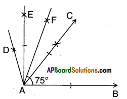 AP Board 9th Class Maths Solutions Chapter 13 Geometrical Constructions Ex 13.1 8