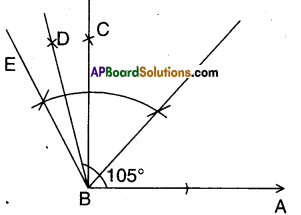 AP Board 9th Class Maths Solutions Chapter 13 Geometrical Constructions Ex 13.1 9