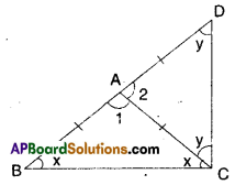 AP Board 9th Class Maths Solutions Chapter 7 Triangles Ex 7.3 6