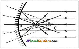 AP Board 9th Class Physical Science Solutions Chapter 7 Reflection of Light at Curved Surfaces 1