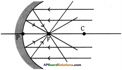 AP Board 9th Class Physical Science Solutions Chapter 7 Reflection of Light at Curved Surfaces 9