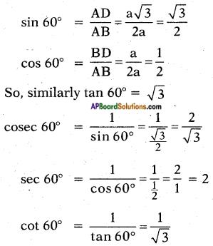 AP SSC 10th Class Maths Solutions Chapter 11 Trigonometry InText Questions 14