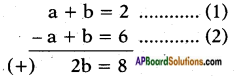 AP SSC 10th Class Maths Solutions Chapter 4 Pair of Linear Equations in Two Variables Ex 4.3 3