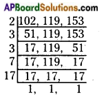 AP Board 6th Class Maths Solutions Chapter 3 HCF and LCM Ex 3.6 5