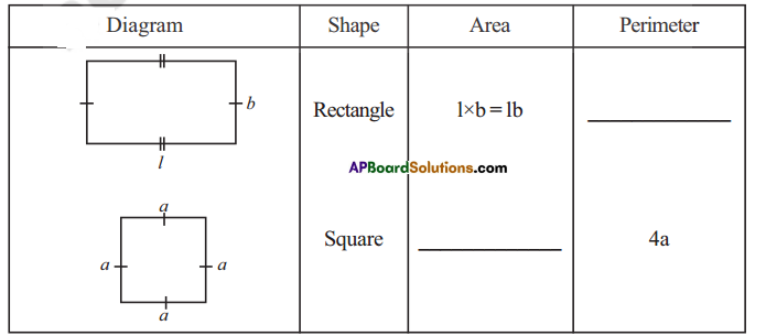 AP Board 7th Class Maths Solutions Chapter 13 Area and Perimeter Ex 1 1