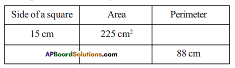 AP Board 7th Class Maths Solutions Chapter 13 Area and Perimeter Ex 1 3