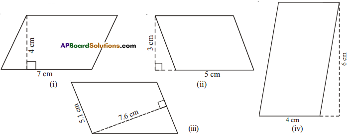 AP Board 7th Class Maths Solutions Chapter 13 Area and Perimeter Ex 2 1