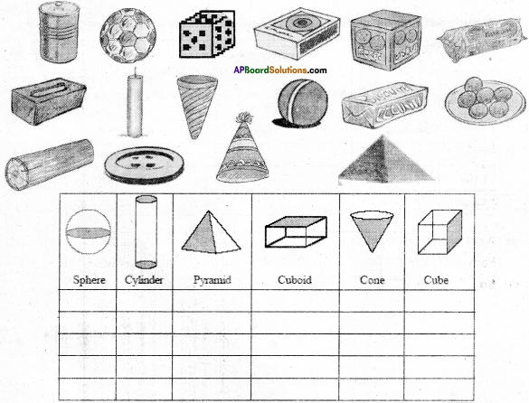 AP Board 7th Class Maths Solutions Chapter 14 Understanding 3D and 2D Shapes Ex 1 1
