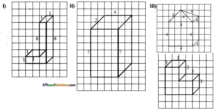 AP Board 7th Class Maths Solutions Chapter 14 Understanding 3D and 2D Shapes Ex 3 1