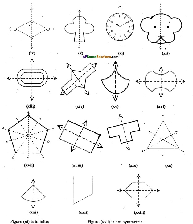 AP Board 7th Class Maths Solutions Chapter 15 Symmetry Ex 1 3