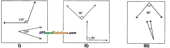 AP Board 7th Class Maths Solutions Chapter 4 Lines and Angles Ex 2 1