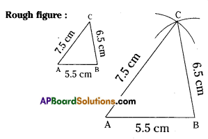 AP Board 7th Class Maths Solutions Chapter 9 Construction of Triangles Ex 1 1