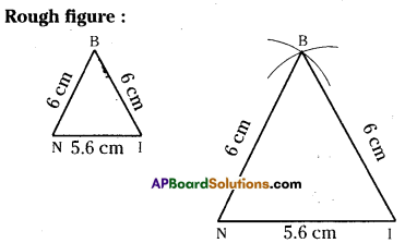 AP Board 7th Class Maths Solutions Chapter 9 Construction of Triangles Ex 1 2