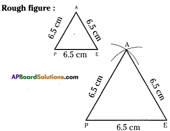 AP Board 7th Class Maths Solutions Chapter 9 Construction of Triangles Ex 1 3