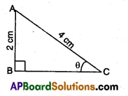 AP 10th Class Maths Bits Chapter 11 Trigonometry with Answers 1