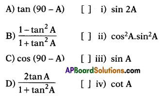 AP 10th Class Maths Bits Chapter 11 Trigonometry with Answers 38