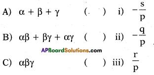 AP 10th Class Maths Bits Chapter 3 Polynomials Bits 25