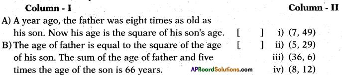 AP 10th Class Maths Bits Chapter 5 Quadratic Equations Bits 11
