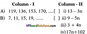 AP 10th Class Maths Bits Chapter 6 Progressions Bits 3