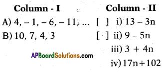 AP 10th Class Maths Bits Chapter 6 Progressions Bits 4