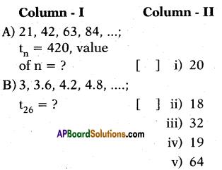 AP 10th Class Maths Bits Chapter 6 Progressions Bits 5