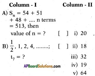 AP 10th Class Maths Bits Chapter 6 Progressions Bits 6