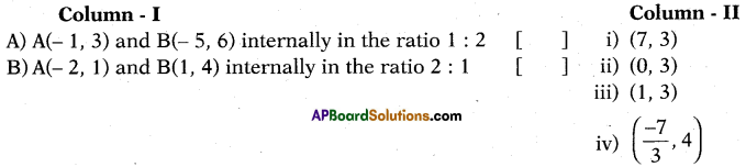 AP 10th Class Maths Bits Chapter 7 Coordinate Geometry with Answers 12